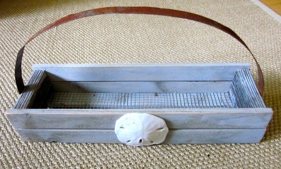 Sand Dollar Shell Basket Crate