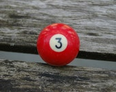 Number 3 Small Pool Ball.