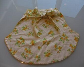 Vintage Flowered Half Apron
