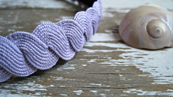 SALE . Lavender Elastic Non Slip Headband for Women . Christmas in July . CIJ .  by ponyupdesigns