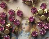 Vintage Swarovski  Pink Crystal With Hoop