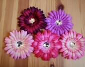 "Lot of 10-- 4"" Gerbera Daisy Flower Clips"
