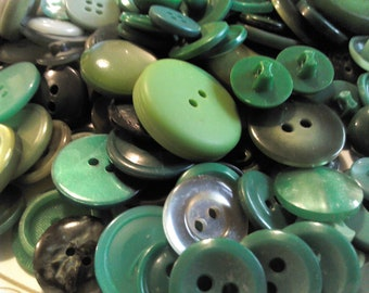 Shades of Green - Vintage Buttons