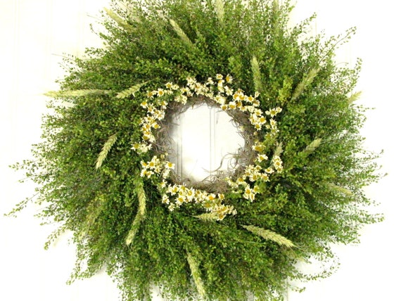 Dried Floral Wreath, Primitive Wreath,  Floral Decor, Wreaths