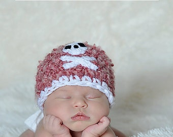 Pirate Beanie Baby Newborn Crochet Photography Prop