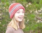 Knit Childs Striped Stocking Cap Hat Boys, Girls...adoption fundraiser