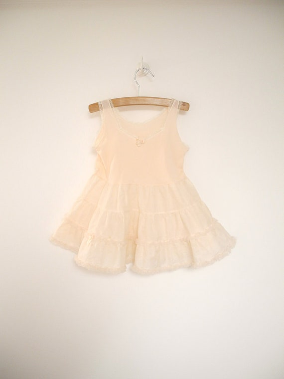 """1950's Pink Ruffle and Lace """"Fairy Princess"""" Slip"""