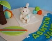 Cake topper - beach baby shower