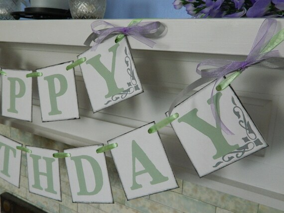 Reserved for Denise Happy Birthday Banner Birthday