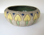 Roseville Pottery Art Deco Ceramic Console Bowl