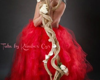 Extra Long Extravagant Red Tutu Skirt--Adult---Any Color available