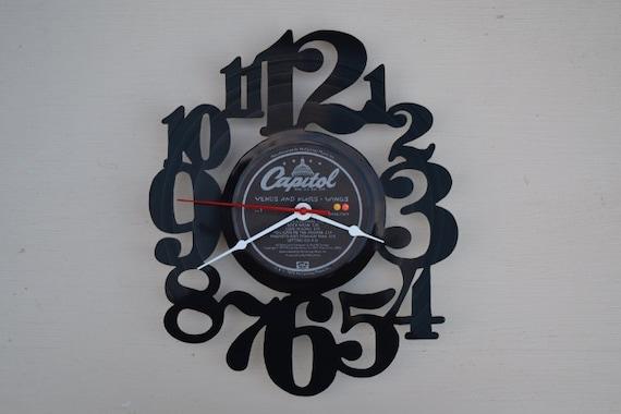Vinyl Record Wall Clock (artist is Wings)