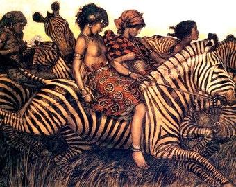 Women Riding Zebras