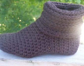 Crochet Slouchy Slipper Boots MADE TO ORDER Most colors...color choice is yours