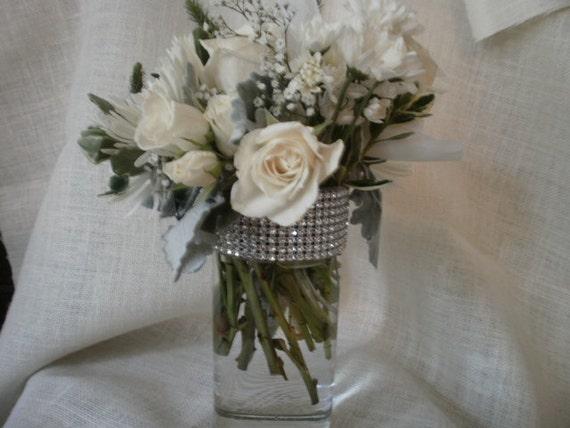 Centerpiece Vases Set of  10 Bridesmaid bouquet vase Wedding Bling Bridal Shower Fairytale Wedding Fairytale Shower