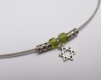 Cable wire choker with Star of David