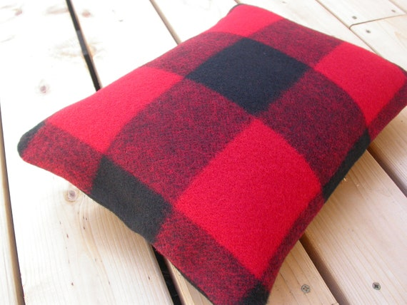RESERVED for Shannon Pendleton Christmas Stockings - black and red  buffalo plaid print - home and cabin decor