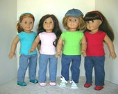 "Pull-on Jeans for American Girl and other 18"" Dolls"