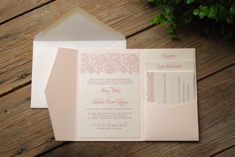 Ivory Wedding Invitation Kits: Unavailable Listing On Etsy