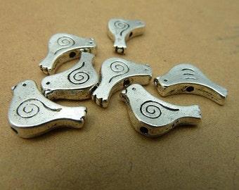 20pcs 10x15mm Antique Silver  Bird  Chains/Charm Pendant tc2848