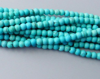 8mm  Turquoise Beads 15.5 inches k4388