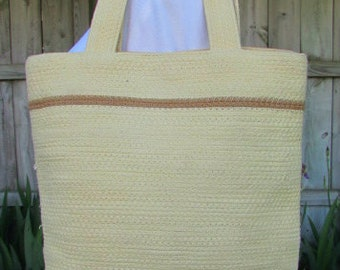 vintage 80s fossil woven cotton purse satchel tote bag
