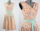RESERVED - 1940s Spring Blossoms Dress - S