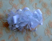 RESERVED Listing for shelze911: White Loopy Party Bow on a  French Barrette