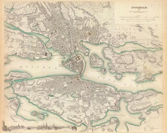 1838 Map of Stockholm