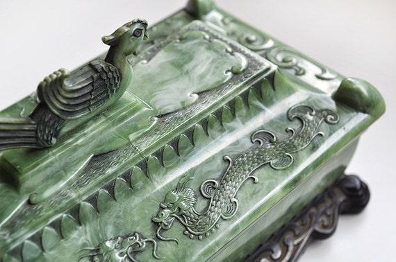 Asian Jewelry Trinket Box 50s