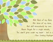 Colorful Tree canvas with adoption poem