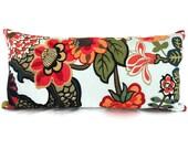 Schumacher Aquamarine Chiang Mai Dragon Decorative Lumbar Pillow 10x20
