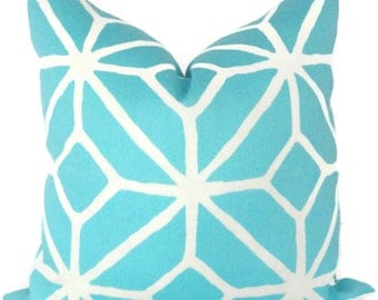 Trina Turk Pillow Cover, Schumacher Spa Trellis Indoor Outdoor , 18x18, 20x20, 22x22 or 14x20 Throw pillow, Toss pillow, pool pillow