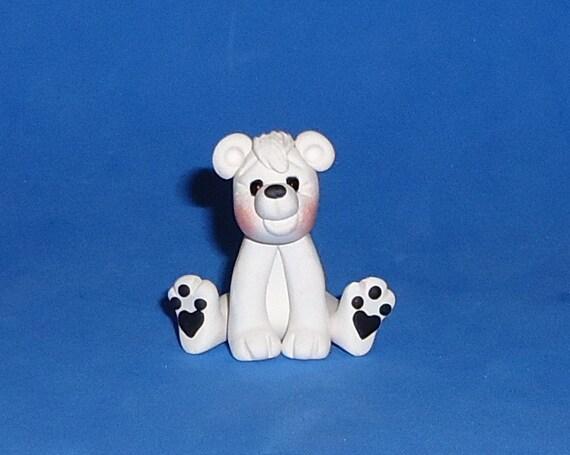 Polymer Clay Polar Bear Sitting