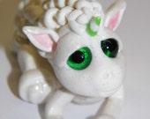 """OOAK Handmade Polymer Clay Tiny Baby Unicorn """"Nakial"""" Fantasy Art Doll"""