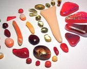 Mixed Glass Cabochons or Tiles Kiln Formed 35 Pieces (446)