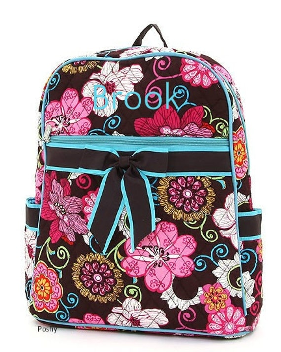 Personalized Kids Backpack Floral Print LARGE