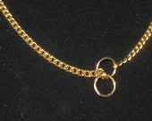 """10 1/2"""" Gold Show Choke Chain Anklet"""