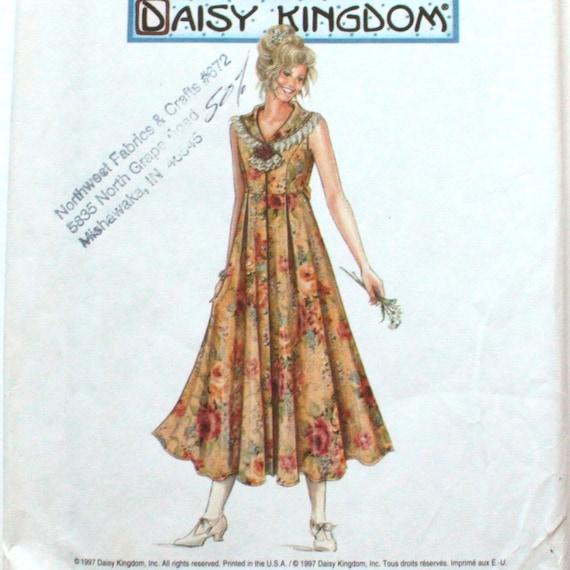 Dress Sewing Pattern, Misses Romantic Tank, Tea length, Size 18, 20, 22, Flare Skirt, Lace Sailor Collar, Daisy Kingdom, Simplicity 0616