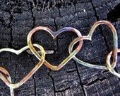Copper Heart Soldered Chain Link Bracelet