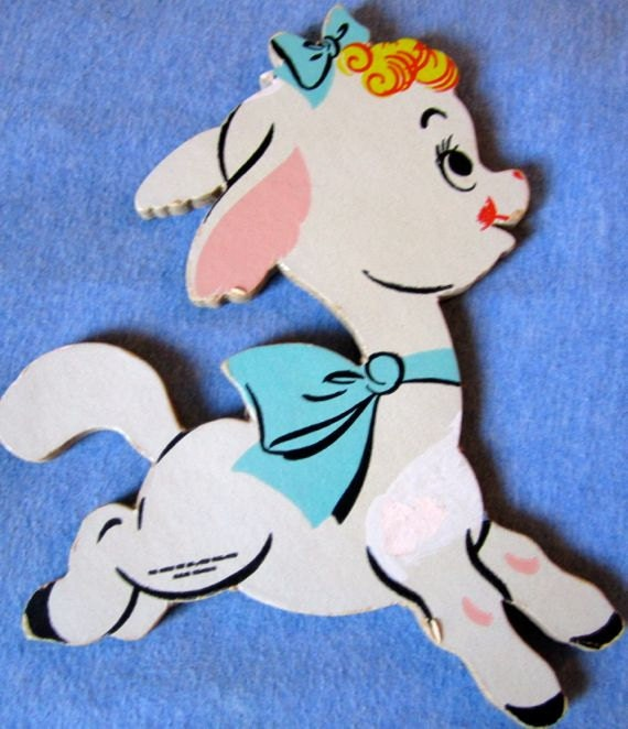 Vintage Baby Wall Decor : Vintage little lamb baby nursery wall decor