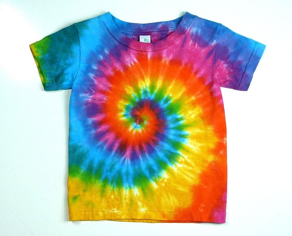 toddler tie dye tee shirt pink rainbow spiral fun back to