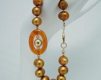 Pearl & Carnelian Bracelet 057BA