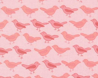 76004 Free Spirit Valori Wells Nest Collection Birds in Rose color - 1 yard