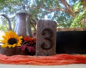 Set of 12 Upcycled Wood Table Numbers Rustic Vintage Distressed Shabby Chic Wedding Chalkboards