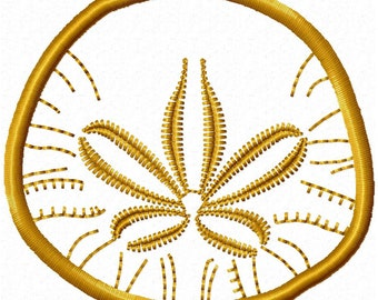 Applique Sand Dollar (Embroidery Design for Machine Embroidery)