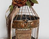 Beautiful Birdcage Wedding Card Holder / Vintage / Fall Inspired Wedding Cardholder / Card Box