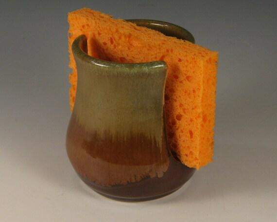 Stoneware Sponge Holder by Seiz Pottery