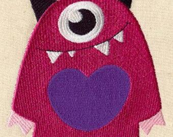 Mono Monster Embroidered Flour Sack Hand/Dish Towel