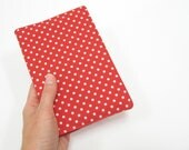 Diaries 2013, Valentines Day gift idea for her, red white polka dots, unique day planner, handmade fabric cover